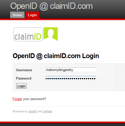 Log into ClaimID