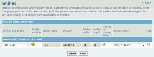 phpBB smilies