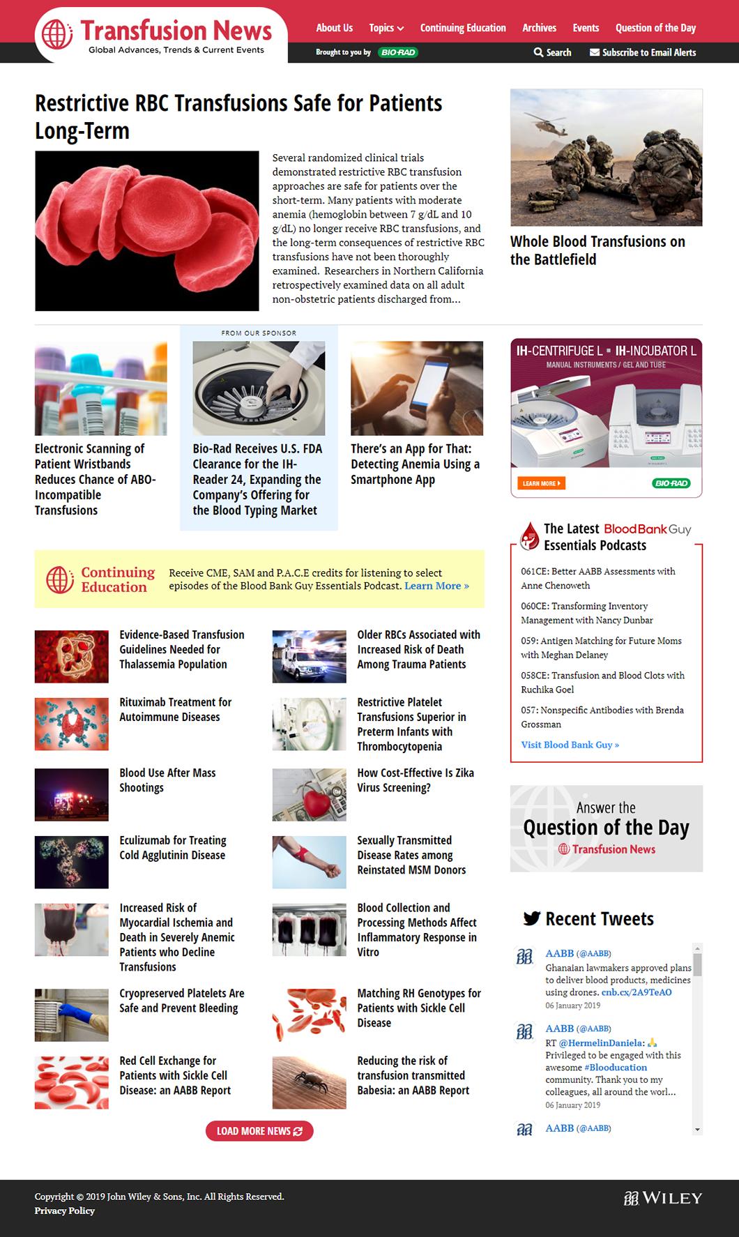 Transfusion News